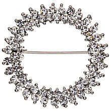 Buy John Lewis Glass Crystal Circle Brooch, Silver Online at johnlewis.com