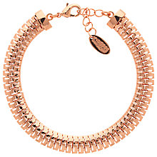 Buy Finesse Small Fine Mesh Chain Bracelet, Rose Gold Online at johnlewis.com