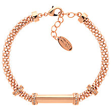 Buy Finesse Mesh Glass Crystal Bracelet, Rose Gold Online at johnlewis.com