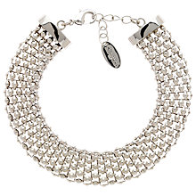 Buy Finesse Chunky Mesh Bracelet, Silver Online at johnlewis.com