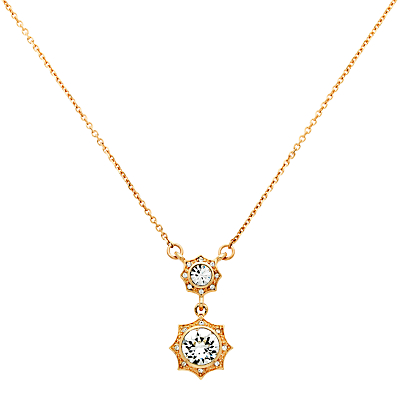 Cachet Becka Swarovski Crystal Drop Pendant Necklace, Rose Gold