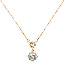 Buy Cachet Becka Swarovski Crystal Drop Pendant Necklace, Rose Gold Online at johnlewis.com