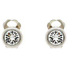Buy Finesse Swarovski Crystal Clip-On Earrings, Silver Online at johnlewis.com