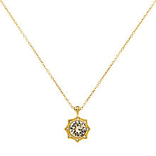 Buy Cachet Becka Swarovski Crystal Pendant Necklace, Gold Online at johnlewis.com