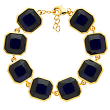 Buy Monet Glass Crystal Bracelet, Gold/Indigo Online at johnlewis.com
