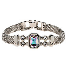 Buy Monet Vitrail Crystal Mesh Bracelet, Silver Online at johnlewis.com
