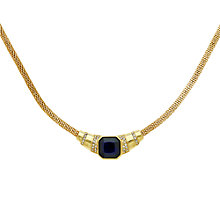 Buy Monet Glass Crystal Mesh Collar Necklace, Gold/Indigo Online at johnlewis.com