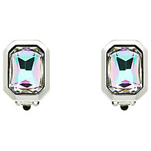 Buy Monet Vitrail Crystal Clip-On Earrings, Silver Online at johnlewis.com
