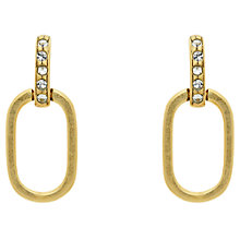 Buy Finesse Swarovski Crystal Oval Drop Earrings Online at johnlewis.com