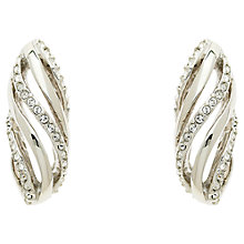 Buy Finesse Swarovski Crystal Open Work Twist Drop Earrings Online at johnlewis.com
