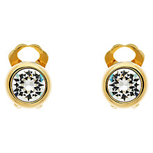 Buy Finesse Swarovski Crystal Stud Earrings, Gold Online at johnlewis.com