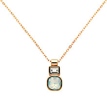 Buy Finesse Cushion and Baguette Glass Crystal Pendant Necklace Online at johnlewis.com