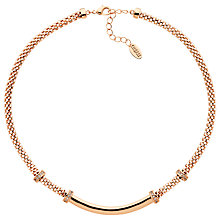 Buy Finesse Mesh Glass Crystal Collar Necklace, Rose Gold Online at johnlewis.com