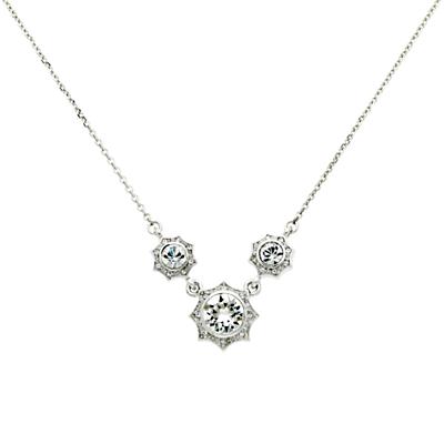 Cachet Becka Swarovski Crystal Necklace, Silver