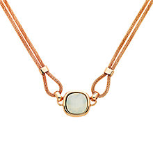 Buy Finesse Double Mesh Glass Crystal Necklace, Rose Gold/Opal Online at johnlewis.com