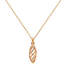 Buy Finesse Swarovski Crystal Open Work Twist Pendant Necklace Online at johnlewis.com