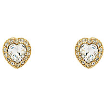 Buy Cachet Effion Swarovski Crystal Heart Stud Earrings Online at johnlewis.com