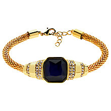 Buy Monet Glass Stone Mesh Bracelet, Gold/Indigo Online at johnlewis.com