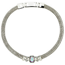 Buy Monet Vitrail Crystal Mesh Collar Necklace, Silver Online at johnlewis.com