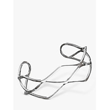 Buy Nina B 3 Strand Honeycomb Cuff, Silver Online at johnlewis.com