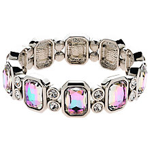 Buy Monet Vitrail Crystal Stretch Bracelet, Silver Online at johnlewis.com