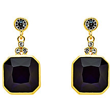 Buy Monet Glass Crystal Drop Earrings, Gold/Indigo Online at johnlewis.com