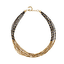 Buy Adele Marie 10 Row Fine Bead Necklace, Black/Gold Online at johnlewis.com