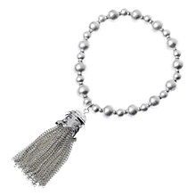 Buy Adele Marie Bead Chain Tassel Stretch Bracelet Online at johnlewis.com