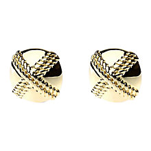 Buy Adele Marie Square Embossed Clip-On Earrings Online at johnlewis.com