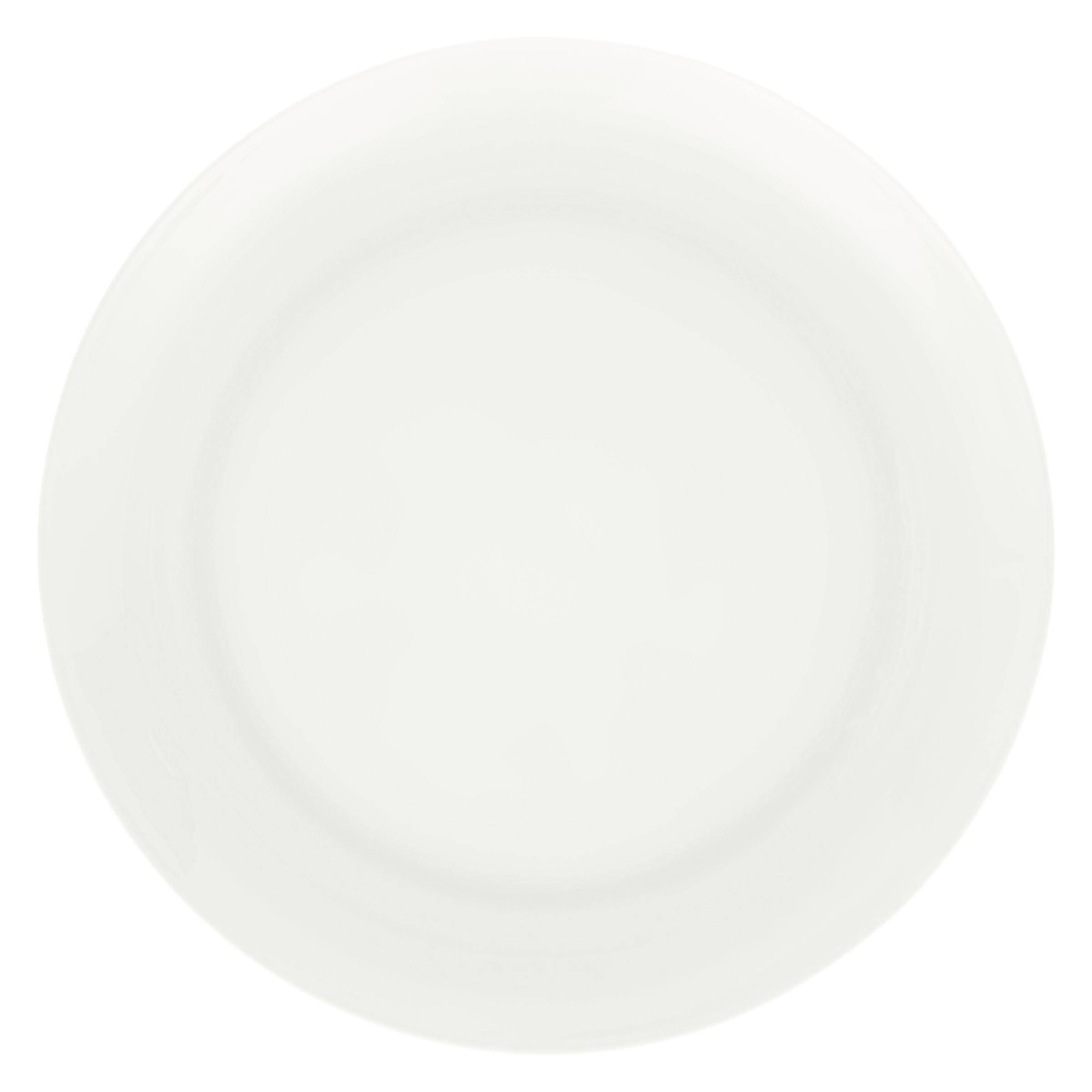 Cornishware John Lewis Contour Bone China 27.5cm Plate, White