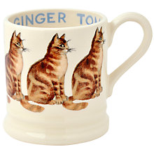 Buy Emma Bridgewater Ginger Tom Cat Half Pint Mug Online at johnlewis.com