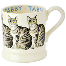 Buy Emma Bridgewater Silver Tabby Cat Half Pint Mug Online at johnlewis.com