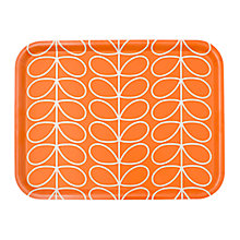 Buy Orla Keily Large Linear Stem Tray, Persimmon Red Online at johnlewis.com