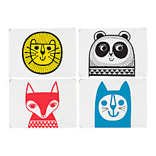 Buy Jane Foster Animal Placemats, Set of 4, Assorted Designs Online at johnlewis.com