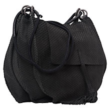 Buy French Connection Lycee Saddle Bag, Black Online at johnlewis.com