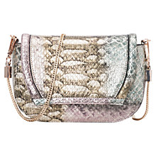 Buy French Connection Foil Snake Print Sonia Mini Bag, Black Online at johnlewis.com