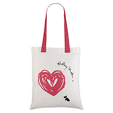Buy Radley Sweetheart Canvas Tote Bag, White / Pink Online at johnlewis.com