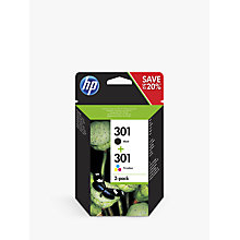 Buy HP 301 Black & Tri-Colour Ink Cartridges, Pack of 2 Online at johnlewis.com