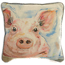 Buy Voyage Nosey Piggy Cushion Online at johnlewis.com