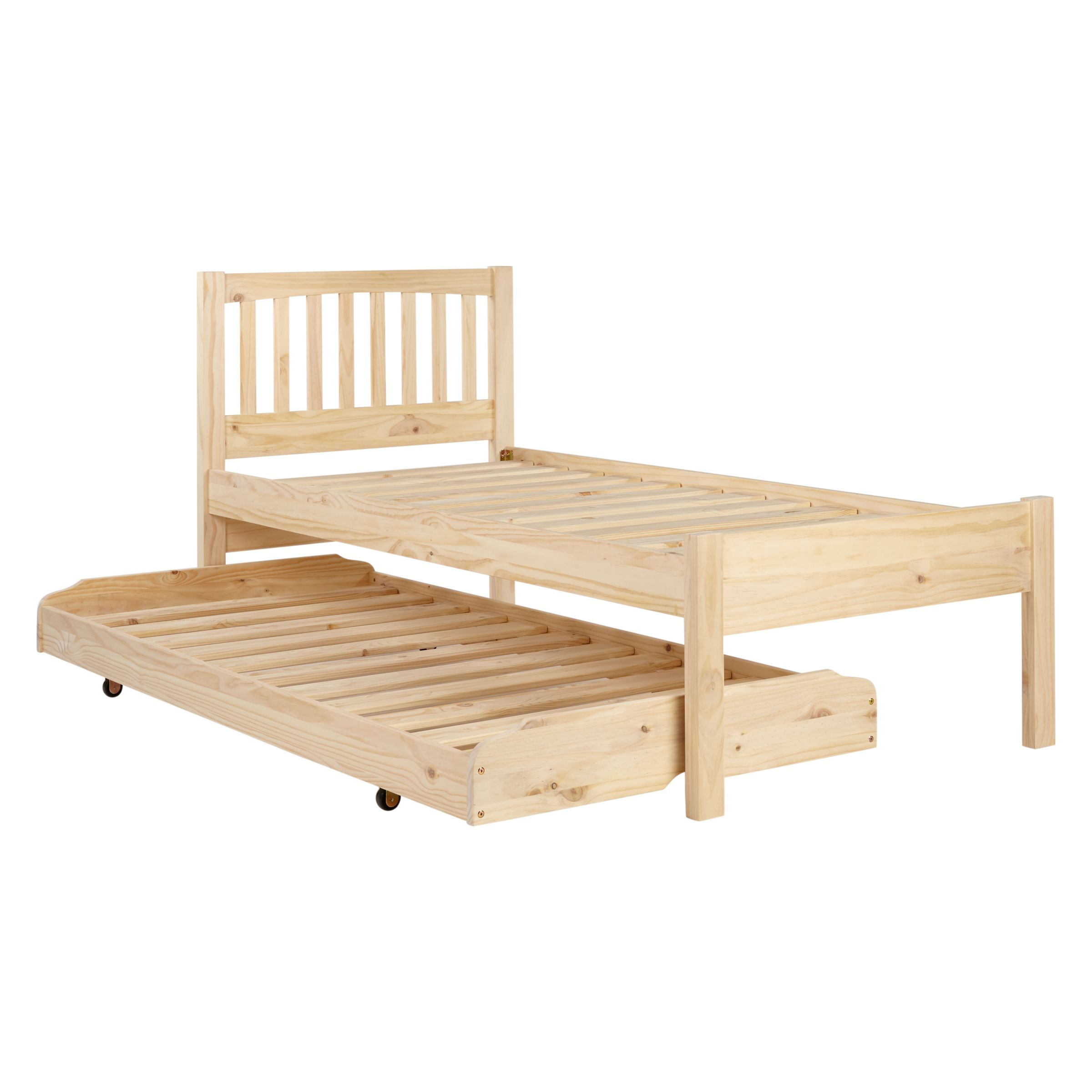 John Lewis Woodstock Raw Pin Trundle Guest Bed