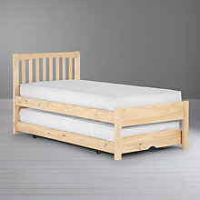 Buy John Lewis Woodstock Raw Pine Trundle Guest Bed Online at johnlewis.com