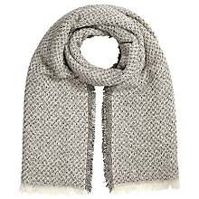 Buy John Lewis Glitter Texture Scarf, Cream Online at johnlewis.com
