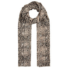 Buy John Lewis Winter Reptile Print Scarf, Taupe Online at johnlewis.com