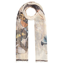 Buy John Lewis Watercolour Butterfly Scarf, Multi/Neutral Online at johnlewis.com