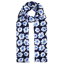 Buy John Lewis Spot Flower Print Scarf, Navy/White Online at johnlewis.com