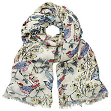 Buy John Lewis Floral Wings Print Scarf, Multi Online at johnlewis.com