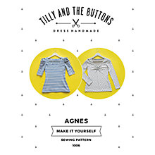 Buy Tilly and the Buttons Agnes Jersey Top Sewing Pattern Online at johnlewis.com