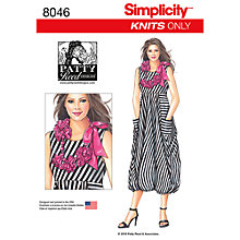 Buy Simplicity Women's Knit Dress Sewing Pattern, 8046 Online at johnlewis.com