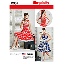 Buy Simplicity Women's Plus Size Rockabilly Dress Sewing Pattern, 8051 Online at johnlewis.com