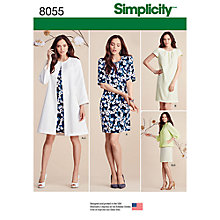 Buy Simplicity Women's Jacket and Dress Sewing Pattern, 8055 Online at johnlewis.com